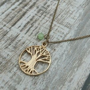 """Jewelry - Gold tone """"tree of life""""necklace"""